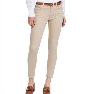 Ralph Lauren Skinny Crop Desert Tan Jeans 16W
